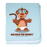 Malcolm The Monkey™ baby blanket