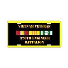 326th Engineer Battalion Aluminum License Plate