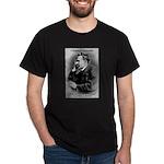 Friedrich Nietzsche Skeptical Black T-Shirt