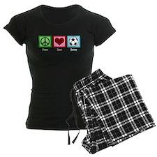 Peace Love Soccer Pajamas