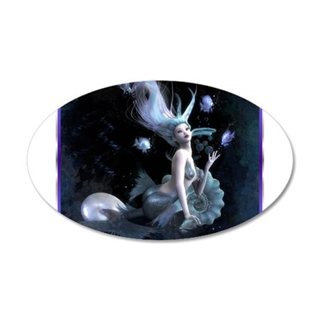 Best Seller Merrow Mermaid 22x14 Oval Wall Peel