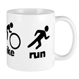 Swim Bike Run Small Mug