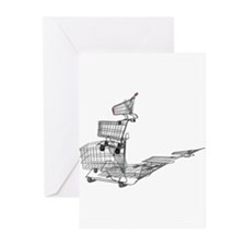 Shopping in Balance Greeting Cards (Pk of 10)