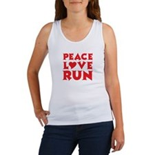 Peace Love Run - red Women's Tank Top