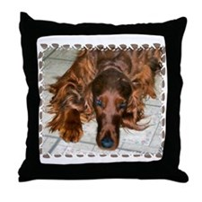 Irish Setters Throw Pillow