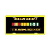 77th Armor Regiment Aluminum License Plate