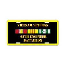 65th Engineer Battalion Aluminum License Plate