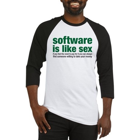 software is like sex Baseball Jersey