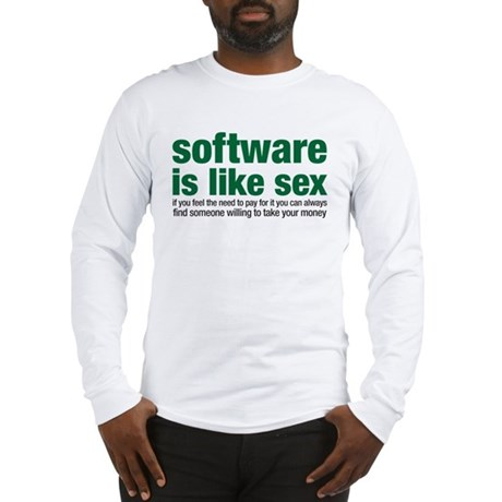 software is like sex Long Sleeve T-Shirt