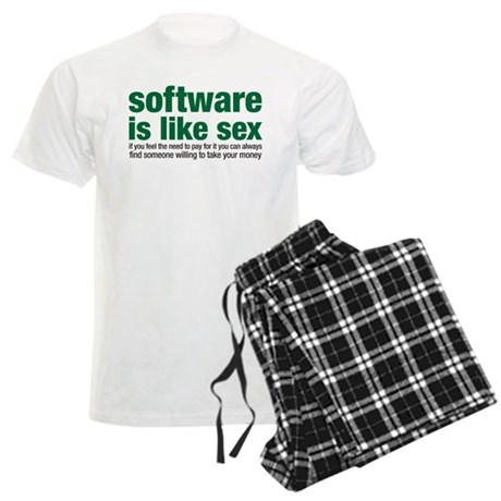 software is like sex Men's Light Pajamas