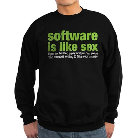 software is like sex Sweatshirt (dark)