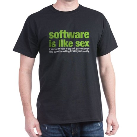 software is like sex Dark T-Shirt