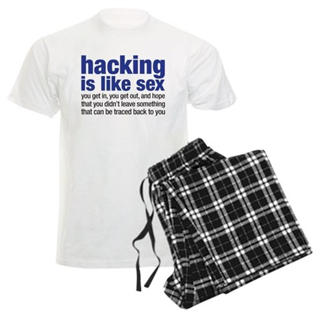 hacking is like sex Men's Light Pajamas