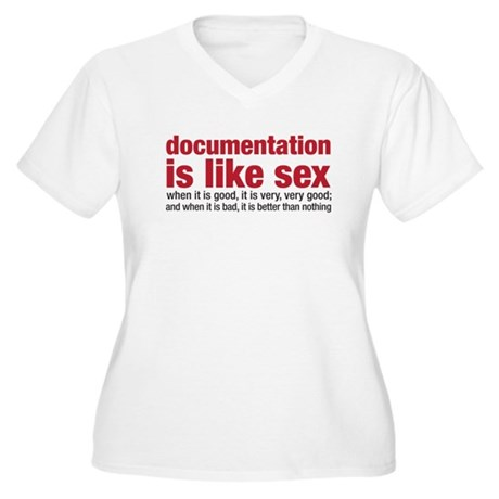 documentation is like sex Women's Plus Size V-Neck