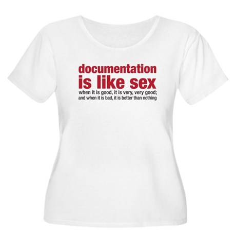 documentation is like sex Women's Plus Size Scoop