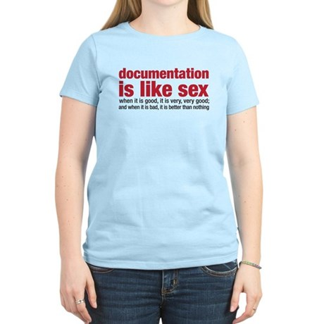 documentation is like sex Women's Light T-Shirt
