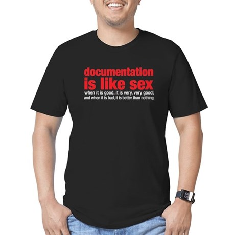 documentation is like sex Men's Fitted T-Shirt (da