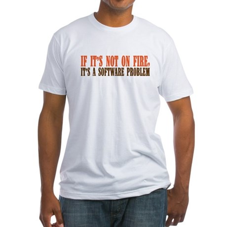 software problem Fitted T-Shirt