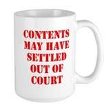Settled Out of Court Mug