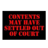 Settled Out of Court Postcards (Package of 8)
