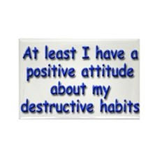 Positive Attitude about Habits Rectangle Magnet