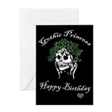 Gothic Princess Birthday Card