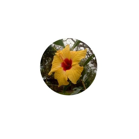 Yellow Hibiscus Mini Button (10 pack)