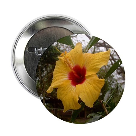 "Yellow Hibiscus 2.25"" Button (100 pack)"