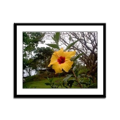 Yellow Hibiscus Framed Panel Print