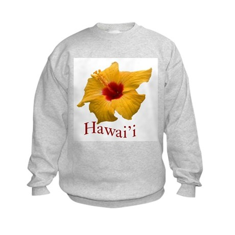 Yellow Hibiscus Kids Sweatshirt