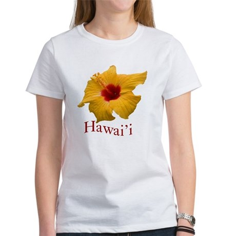 Yellow Hibiscus Women's T-Shirt