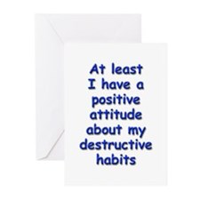 Positive Attitude about Habits Greeting Cards (Pk