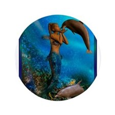"Best Seller Merrow Mermaid 3.5"" Button (100 pack)"