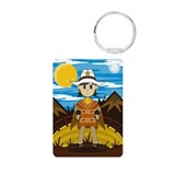 Cute Little Cowboy Aluminum Keychain