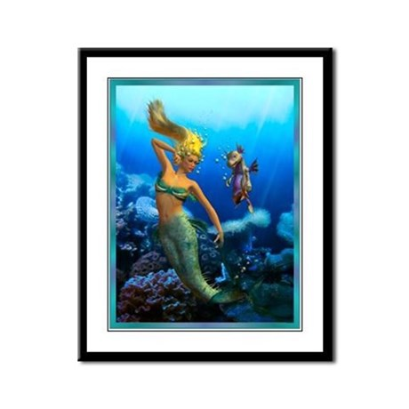 Best Seller Merrow Mermaid Framed Panel Print