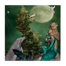 Best Seller Merrow Mermaid Tile Coaster