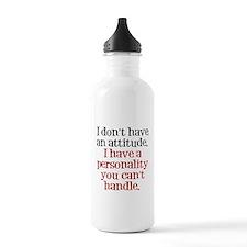 Attitude versus Personality Water Bottle