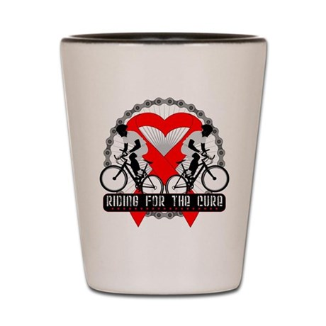Blood Cancer Ride Cure Shot Glass