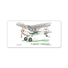 T-Craft Takeoff Aluminum License Plate