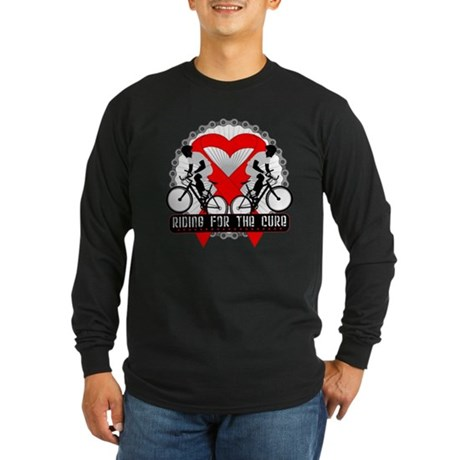 Blood Cancer Ride Cure Long Sleeve Dark T-Shirt