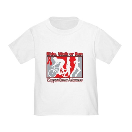 Blood Cancer Ride Walk Run Toddler T-Shirt