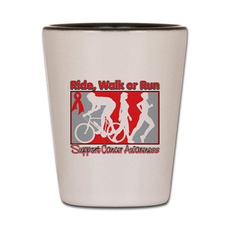Blood Cancer Ride Walk Run Shot Glass