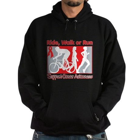 Blood Cancer Ride Walk Run Hoodie (dark)