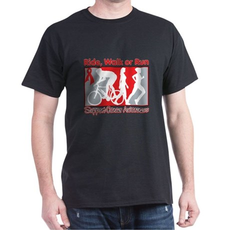 Blood Cancer Ride Walk Run Dark T-Shirt