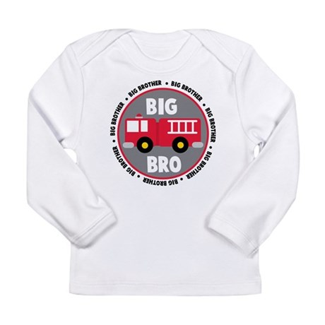 Big Brother Fire Truck Long Sleeve Infant T-Shirt