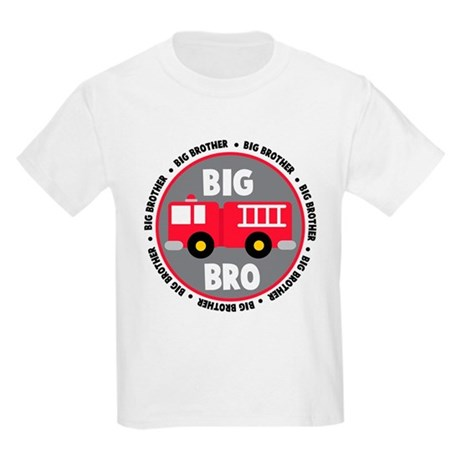 Big Brother Fire Truck Kids Light T-Shirt