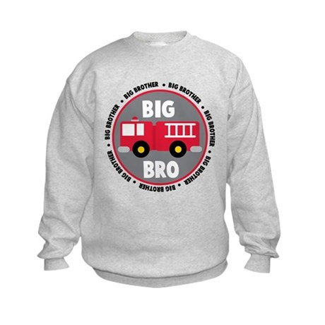 Big Brother Fire Truck Kids Sweatshirt