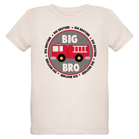 Big Brother Fire Truck Organic Kids T-Shirt
