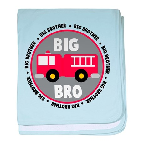 Big Brother Fire Truck baby blanket