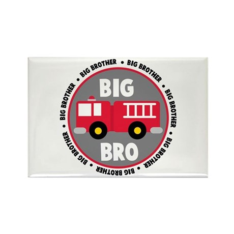 Big Brother Fire Truck Rectangle Magnet